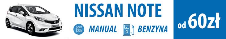 Tanio wypożycz nissan note