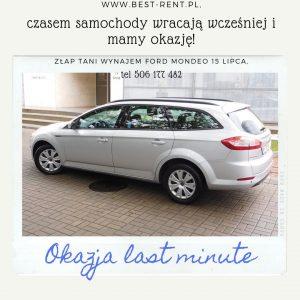 Promocja wynajem samochodu